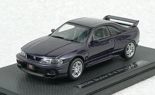 Ebbro 44187 NISSAN SKYLINE GT-R R33 Vspec Purple 1/43 Scale