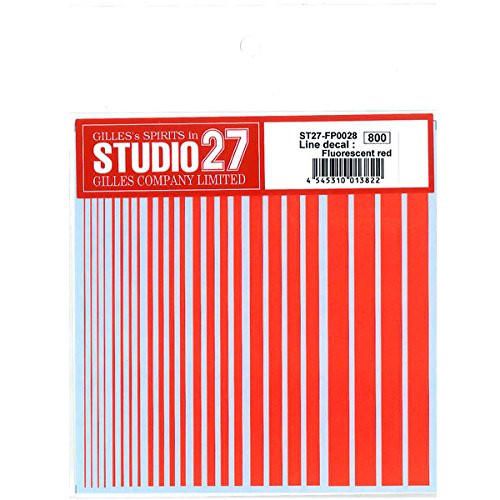 Studio27 ST27-FP0028 Line Decal : Fluorescent Red