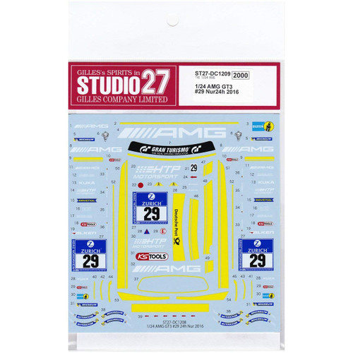 Studio27 ST27-DC1209 AMG GT3 #29 Nur24h 2016 Decal for Tamiya 1/24 Scale