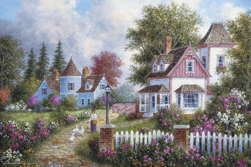 Yanoman Jigsaw Puzzle 10-1331 Dennis Lewan Asheville Lane (1000 Pieces)