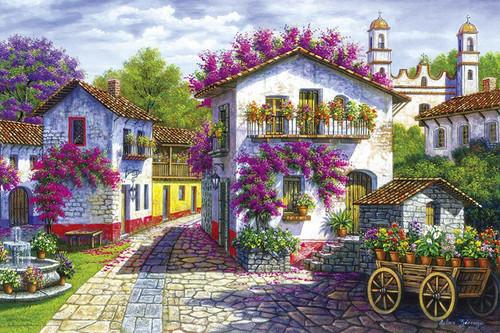 Yanoman Jigsaw Puzzle 10-1330 Arturo Zarraga Colonial Town (1000 Pieces)