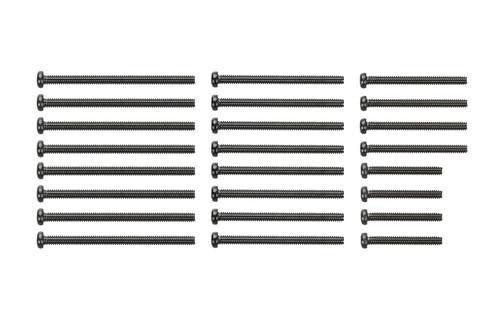 Tamiya 95434 Mini 4WD Stainless Steel Screw Set 15, 20, 25, 30mm (Black)