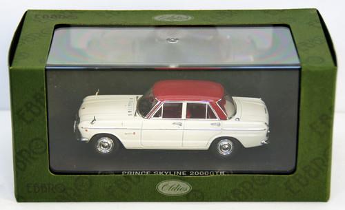 Ebbro 44238 Prince Skyline GTB 1965 (White/Red) 1/43 Scale