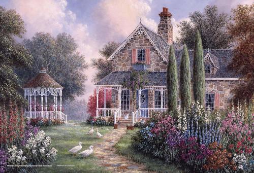 Yanoman Jigsaw Puzzle 03-888 Dennis Lewan Elmira's Cottage (300 Pieces)