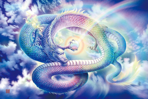 Epoch Jigsaw Puzzle 12-057 Art Saiun-Ikko Nijiryu Rainbow Dragon (1000 Pieces)