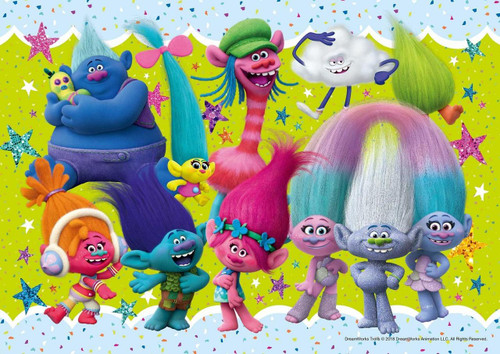 Epoch Jigsaw Puzzle 03-055 Trolls & Friends (108 Pieces)