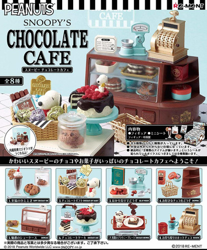 Re-ment 250656 SNOOPY'S CHOCOLATE CAFE 1 BOX 8 Figures Complete Set