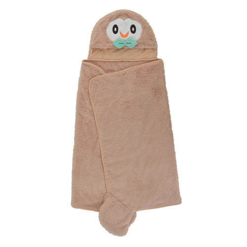 Pokemon Center Original Hoodie Blanket Mofu Mofu Paradise Rowlet (Mokuroh) 1013