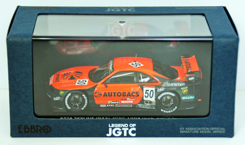 Ebbro 44254 Arata Skyline Jgtc 1998 Hdf (Orange/Black) 1/43 Scale
