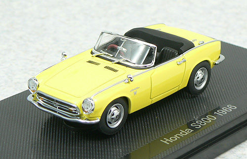 Ebbro 44268 Honda S800 1966 Yellow 1/43 Scale