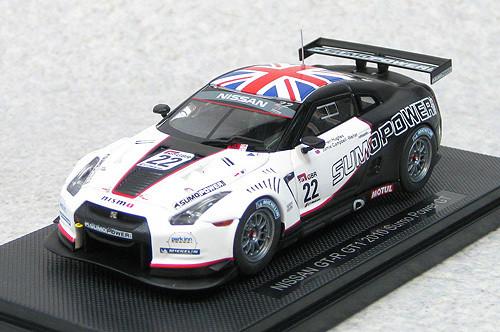 Ebbro 44382 Nissan GT-R GT1 2010 Sumo Power GT No.22(White/Black) 1/43 Scale