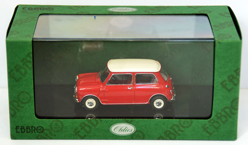 Ebbro 44406 Morris Mini Cooper (Red/White) 1/43 Scale