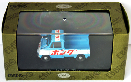 Ebbro 44414 Honda T360 PR car 1963 (Blue/White) 1/43 Scale