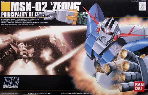 Bandai HGUC 022 Gundam MSN-02 ZEONG 1/144 Scale Kit