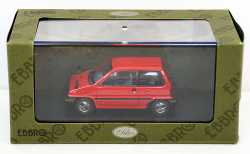 Ebbro 44491 Honda City With Alloy Wheel (Red) 1/43 Scale
