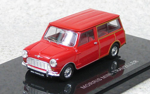 Ebbro 44500 Morris Mini Traveller (Red) 1/43 Scale