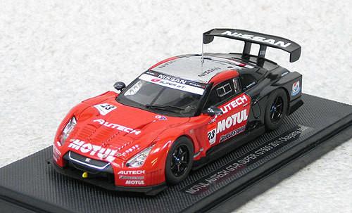 Ebbro 44534 Motul Autech GT-R Super GT500 2011 Okayama Test (Red/Black) 1/43