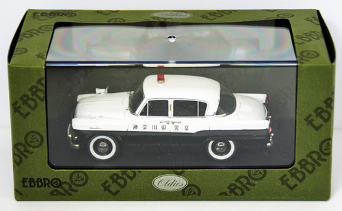Ebbro 44566 Toyopet Crown RS21 Police Car (White/Black) 1/43 Scale