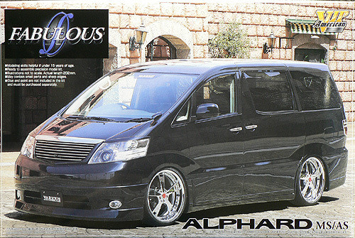 Aoshima 46197 Toyota Alphard MS/AS Fabulous Custom 1/24 Scale Kit