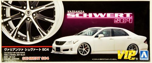 Aoshima 46425 VARIANZA SCHWERT SC4 20 inch Wheel & Tire Set 1/24 Scale Kit