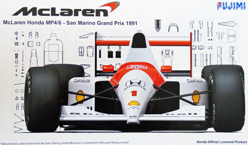 Fujimi GP38 090818 F1 McLaren Honda MP4/6 San Marino GP 1991 1/20 Scale Kit