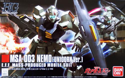 Bandai HGUC 140 Gundam MSA-003 NEMO (Unicorn Version) 1/144 Scale Kit