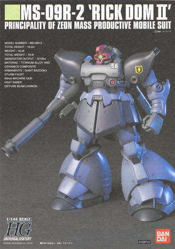 Bandai HGUC 043 Gundam MS-09R-2 RICK DOM II 1/144 Scale Kit