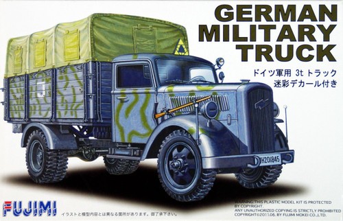 Fujimi 72M2 German Military Truck (Camouflaged) 1/72 Scale Kit