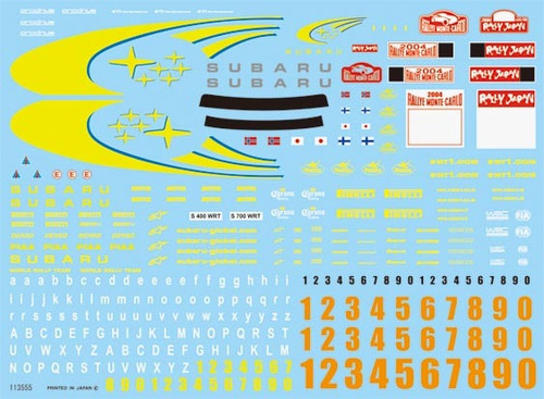 Fujimi Dup-SP 113555 Detail Up Series Decal Sheet for Rally Car 1/24 Scale