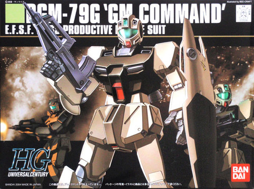 Bandai HGUC 046 Gundam RGM-79G GM COMMAND 1/144 Scale Kit