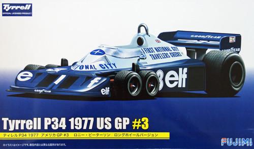 Fujimi GP39 090962 F1 Tyrrell P34 1977 US GP #3 Long Wheel Version 1/20 Scale Kit
