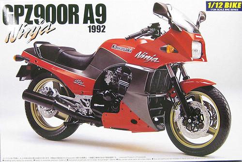Aoshima Naked Bike 15 Kawasaki GPZ900R A9 Ninja 1992 1/12 Scale Kit