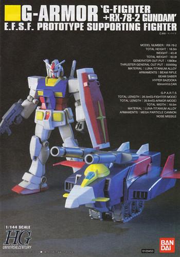 Bandai HGUC 050 Gundam G-ARMOR G-FIGHTER+RX-78-2 1/144 Scale Kit