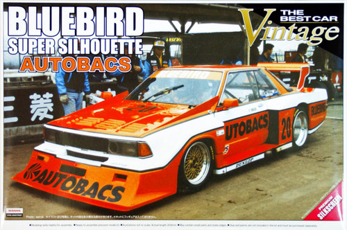 Aoshima 42342 Nissan Bluebird AUTOBACS Turbo Silhouette 1/24 Scale Kit