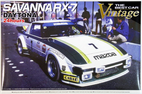 Aoshima 47453 Mazda Savanna RX-7 (SA22C) Daytona 24 hours 1979 1/24 Scale Kit