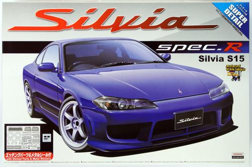Aoshima 04210 Nissan Silvia S15 Spec.R Aero Version Super Detail 1/24 Scale Kit