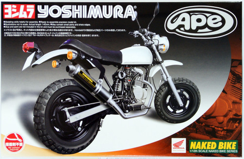 Aoshima Naked Bike 58 48986 Honda APE Yoshimra Custom Version 1/12 Scale Kit