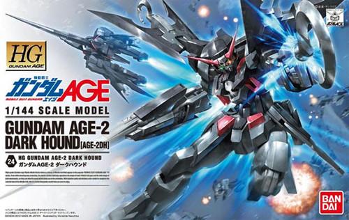 Bandai Gundam HG AGE-24 Gundam AGE-2 Dark Hound (AGE-2DH) 1/144 Scale Kit