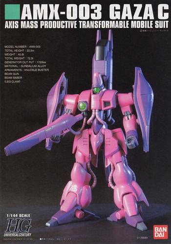 Bandai HGUC 063 Gundam AMX-003 GAZA C 1/144 Scale Kit