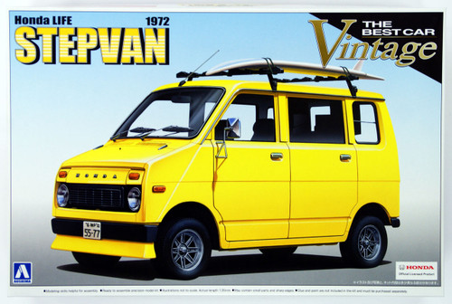 Aoshima 48610 Honda LIFE STEPVAN 1972 1/20 Scale Kit