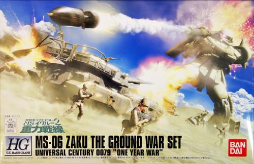Bandai 577320 Gundam MS-06 ZAKU GROUND WAR SET 1/144 Scale Kit