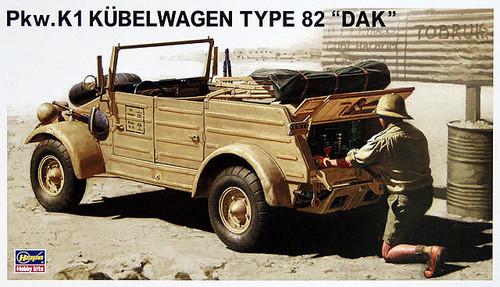 Hasegawa MV4 German Pkw.K1 Kubelwagen Type 82 DAK 1/24 Scale Kit