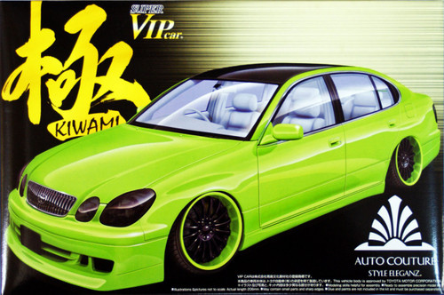 Aoshima 02971 Toyota Aristo Auto Couture Style VIP Car Kiwami 1/24 Scale Kit