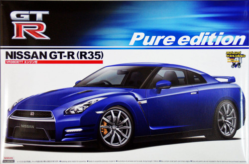 Aoshima 03916 Nissan GT-R (R35) 2012 with VR38DETT Engine 1/24 Scale Kit