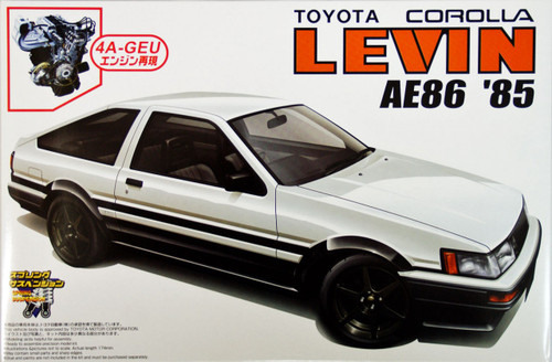 Aoshima 39359 Toyota Corolla Levin AE86 1985 with 4A-GEU Engine 1/24 Scale Kit
