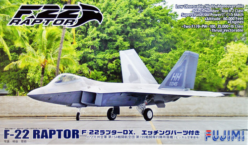 Fujimi BSK-SP 722252 F-22 Raptor DX with Etching Parts 1/72 Scale Kit