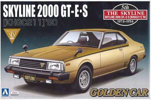 Aoshima 04692 Nissan Skyline 2000 GT-E S (KHGC211) 1980 1/24 Scale Kit