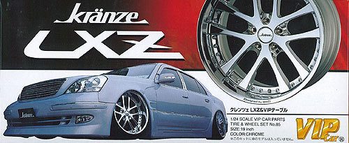 Aoshima 05347 Tire & Wheel Set Kranze LXZ 19 inch 1/24 Scale Kit