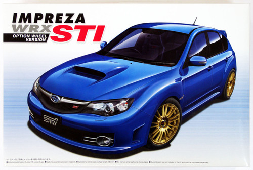 Aoshima 49747 Subaru Impreza WRX STI 2007 Option Wheel Version 1/24 Scale Kit