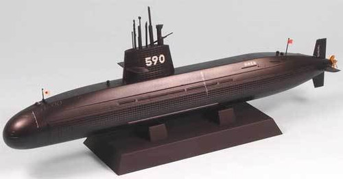 Pit-Road Skywave JB-09 JMSDF Submarine SS-590 Oyashio 1/350 Scale Kit